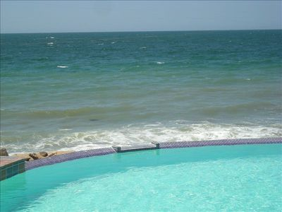 Puerto Penasco condo rental - High tide comes almost to the edge of the pool