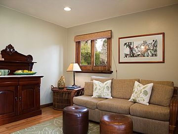 Kailua Kona apartment rental - Sitting room with fold-out queen sofa bed.