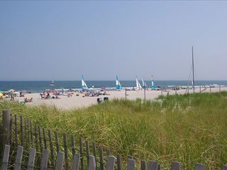 Stone Harbor property rental photo - 2. blocks + 3 houses to dunes, beach, & ocean