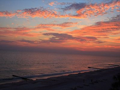 Spectacular sunsets every evening from your large, private balcony.