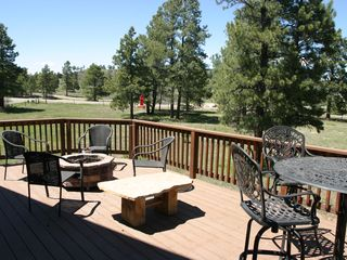 Pagosa Springs house photo - Upper Deck with Outdoor Gas Fire Pit & Spectacular Views