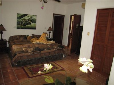 Puerto Morelos house rental - GROUND FLOOR MASTER BEDROOM...
