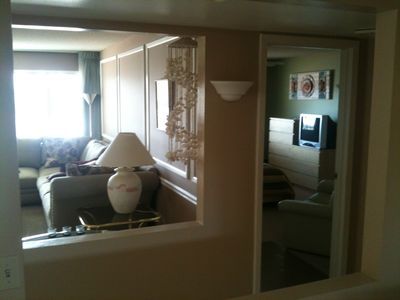 Sun City condo rental - View into Living room and Master BR from Arizona room