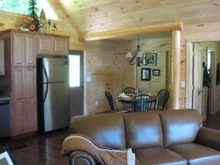 Hayesville cabin photo - Dining area perfect for a intimate candle light dinner