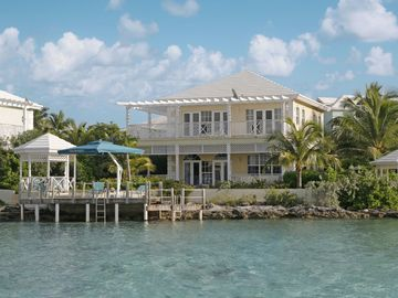 Great Exuma villa rental - VILLA ON DIRECT OCEAN FRONT WITH PRIVATE DECK/DOCK