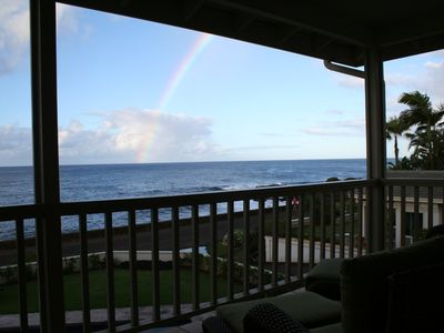 One of Kauai's famous rainbows caught from the Lanai of #5 in October 2012.