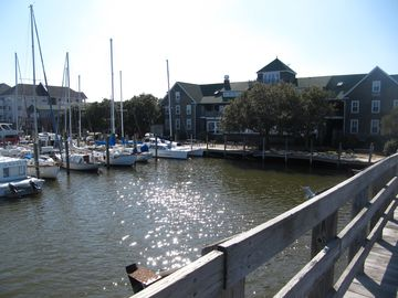 Manteo Harbor from the Festival Park Bridge