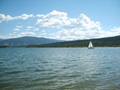 Frisco townhome rental - Views of Lake Dillon from the shore -- boat rentals available at the marina