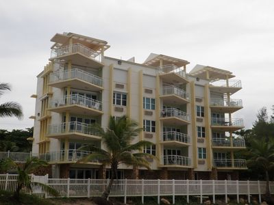Rincon apartment rental - Building view from the beach