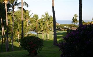 Wailea condo photo - View from Lanai. Blue Course 15th hole and ocean