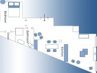 4th Arrondissement Pompidou Le Marais apartment photo - Floor Plan Layout - 540 sq feet