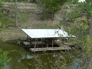 A look at our Dock from across the ravine