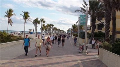 Enjoy a stroll on the famous boardwalk