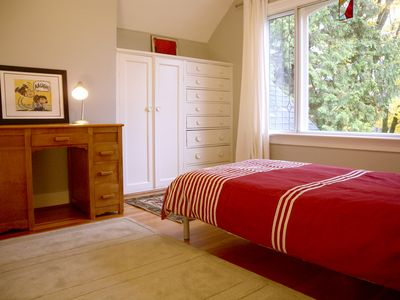 Single Bedroom - looks out onto leafy West 34th Ave (south).
