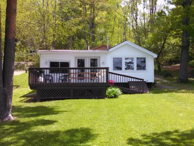 Completely renovated lakefront cottage on beautiful Rushford Lake