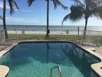House 30 meters from the large white sandy beach with shared pool and elevator