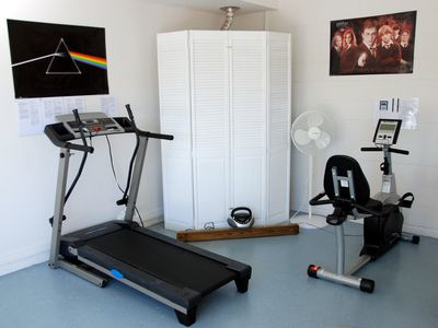 Treadmill & Cycle machine in Games Room