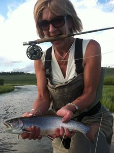 Fabulous Fly Fishing surrounds the West Yellowstone area! Nice Brook Trout!
