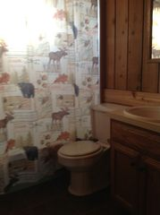 Elk Rapids cottage photo - Bath with full tub/shower,vanity/sink.