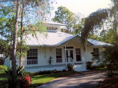 Front of main Old Florida Style Home