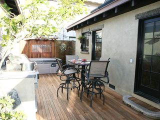 Santa Cruz house photo - Backyard Dining, BBQ and Hot Tub Area