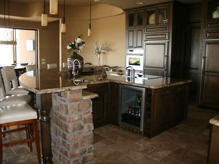 Fountain Hills house photo - Single Level Adobe Style Home - large patio and pool looks out to desert