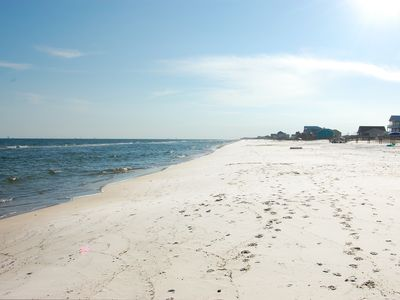 Fort Morgan Beach, West View, beautiful, very private and spacious beach area