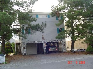South Bethany Beach house photo - Street Side with Ample Parking for 6-7 Vehicles