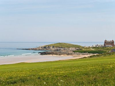Fistral Beach is just over the road!
