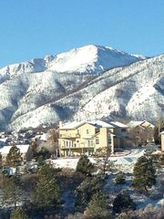 Colorado Springs house photo - View of Pikes Peak in winter from the deck