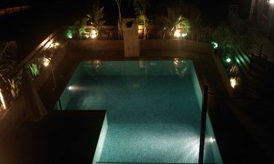 Limassol City villa rental - Pool by Night