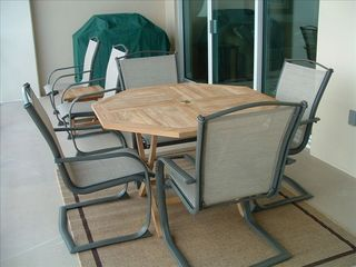 Orange Beach condo photo - 300 sq ft balcony - seating available for 8