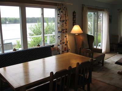 Dining Table with view of Basin Cove