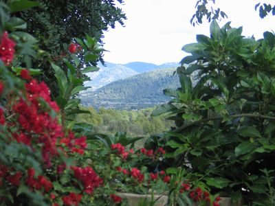 Campanet Center house rental - View from Garden