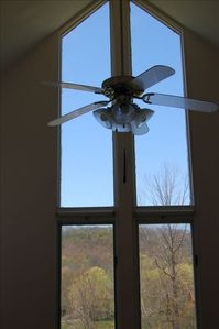 Lanesboro condo rental - Kitchen window