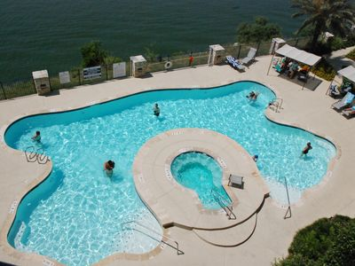 Balcony View - Swimming Pool overlooking Lake Travis (Deep Water)