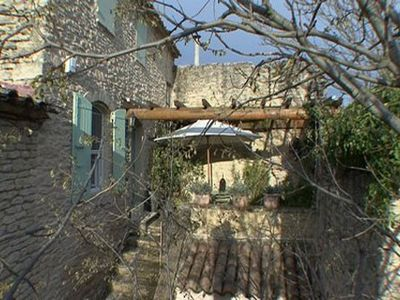 Charm of a stone house, medieval village of the Luberon Park