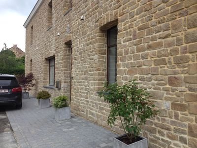 Village house in local stone and contemporary interior