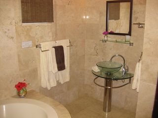 Playa del Carmen condo photo - Beautiful marble tile in the Master Bath