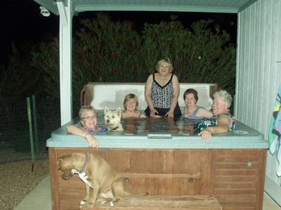 Tucson house rental - Fun in the hot tub