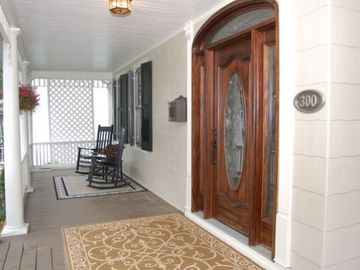 Enjoy the abiance of an historic downtown porch