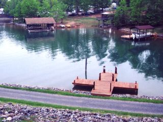 Huddleston house photo - Swimming dock as viewed from our deck