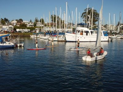 Walking distance to all the activities at the Santa Cruz Harbor.