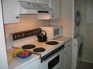 Sea Pines condo photo - Kitchen is fully equiped and has an eco friendly front loading washer and dryer