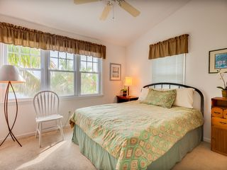 Key West house photo - The master suite has vaulted ceiling, overhead fan.