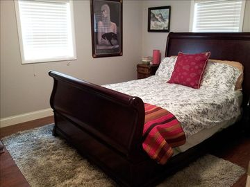"The ""Serenity Place"" Gray Bedroom is the 3rd Bedroom with Queen & Flat Screen TV"