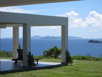 view on St Barth, from the villa