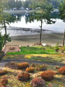 Low tide view of the lower deck, lower levels & fire pit