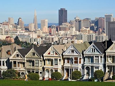 Alamo Square Park-Painted Ladies