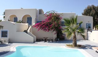 Monolithos house photo - Pool view of private villa